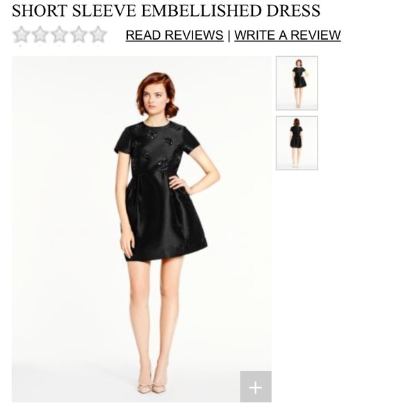 Short Sleeve Embellished Dress