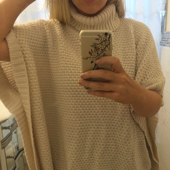 61% off Forever 21 Sweaters - Cream turtleneck poncho sweater from ...
