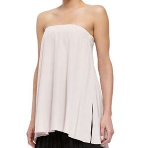 Tibi Tops - Tibi Blush Strapless Silk Flowy Top