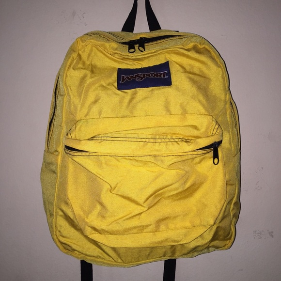 67% off Jansport Handbags - SOLD! Minion Yellow Jansport Backpack ...
