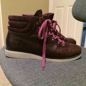 womens timberland purple nellie chukka double emboss boots