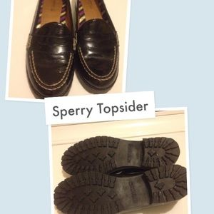 Sperry Black Loafers