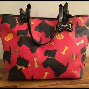 Dooney&Bourke red Scottie dog coated canvas