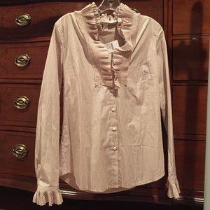NWT J.crew pinstripe blouse