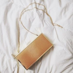 JustFab Gold Clutch