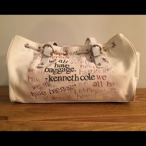 Kenneth Cole Canvas tote, used condition