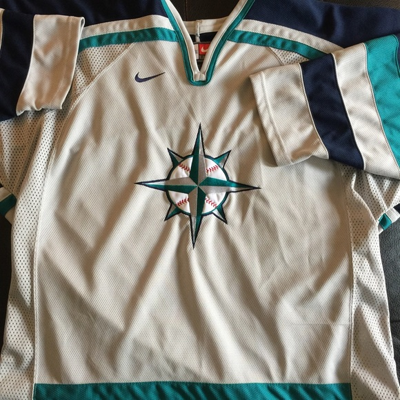 huge discount 44131 8f215 Authentic Nike Seattle Mariners Hockey Jersey
