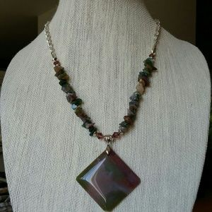 Jewelry - Jasper and agate necklace