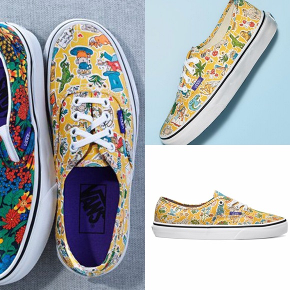 8cf5fe8f16 Vans x Liberty Alice in Wonderland Authentic Shoes.  M 559dee050d98787388024cb6