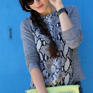 Zara Sweaters - Python-Print Sweater