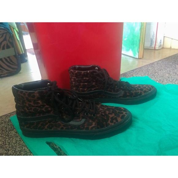 Furgonetas Sk8 Hi Leopardo Negro De Gamuza mFWamg