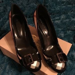 Authentic Patent Leather Burberry Pumps