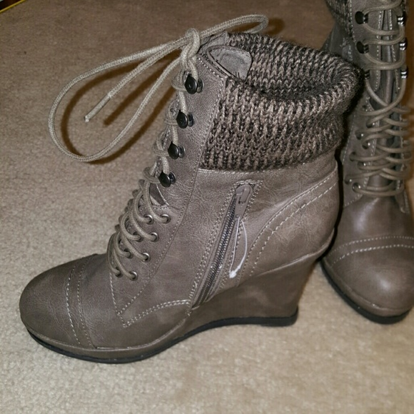 50% off Mossimo Supply Co. Boots - **SOLD** NWOT Grey Lace up ...