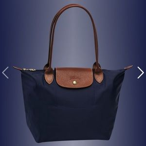 New Longchamp Small Le Pliage Tote Bag in Navy