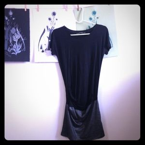 All Saints Black & Silver Dress Size 4