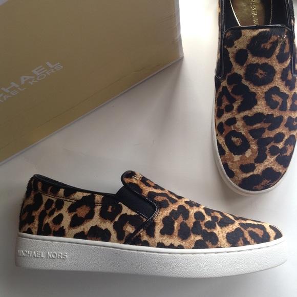 9c5958ae8f46 NEW MICHAEL Kors cheetah calf hair loafer slip ons
