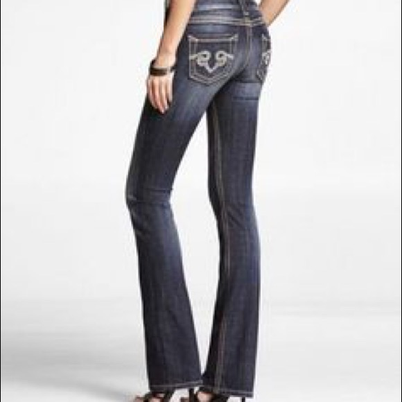 89% off Express Denim - Rerock for Express Boot Denim Jeans size 8 ...