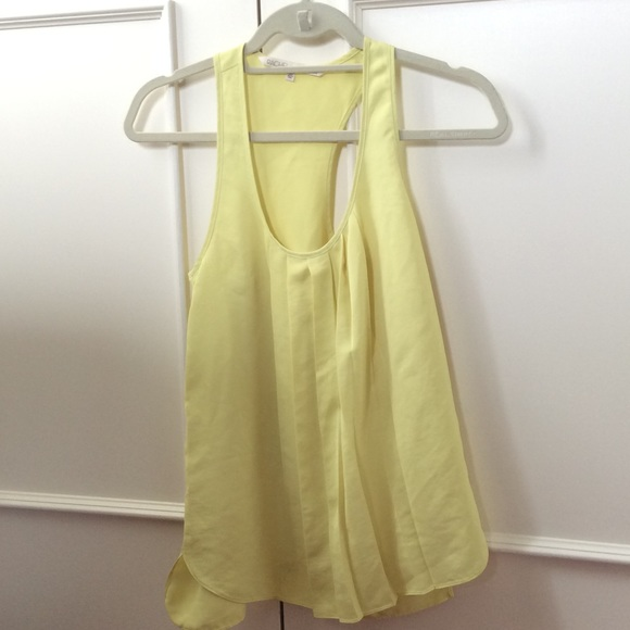 Rachel Roy Bright Pastel Yellow Top
