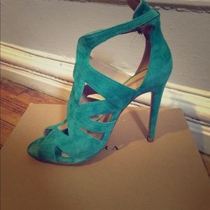 Zara Peep Toes in Teal