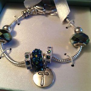 Slider charm bracelet