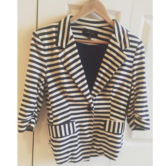 Find black and white striped blazer at ShopStyle. Shop the latest collection of black and white striped blazer from the most popular stores - all in.