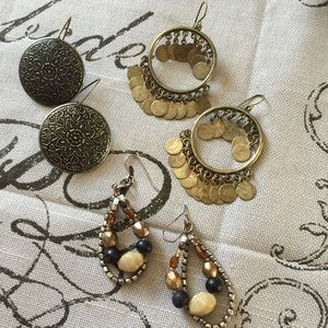 Jewelry - 3 pairs of earrings!
