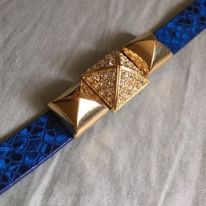 Juicy couture pyramid strap bracelet