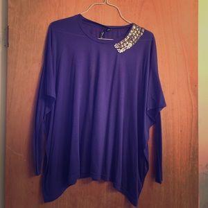 Aryn K flowy purple top