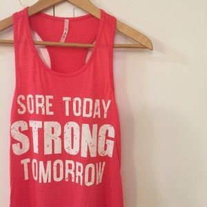 Tops - Sore Today Strong Tomorrow Top L