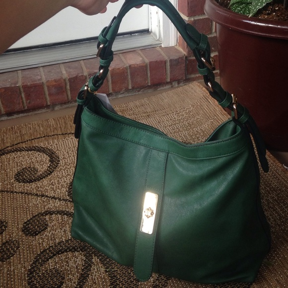 Alyssa USA - Forest Green Vegan Faux Leather Hobo Bag from Suada's ...