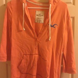 Hollister Sweaters - Orange Hollister sweatshirt.