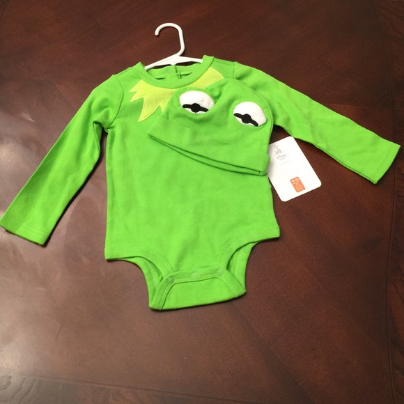 Disney ️firm Disney S Kermit The Frog Onesie Hat From
