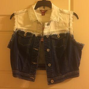 Arizona Jean Company Jackets & Blazers - Cropped dip dyed denim vest!