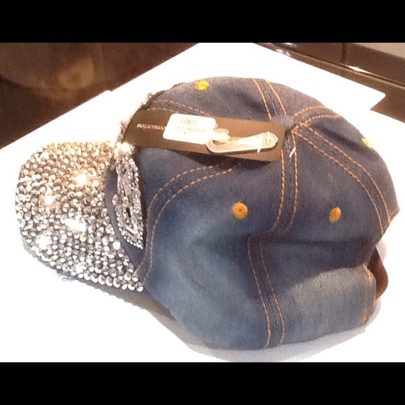50 Off Accessories Blinged Out Baseball Cap From