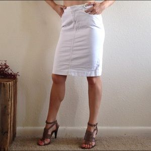d165416d2a Banana Republic Skirts - Banana Republic white denim skirt