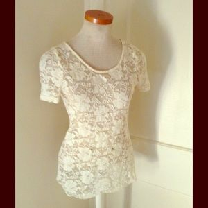 Beautiful Ivory Lace Top