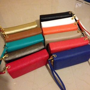 Double zipper Wristlet Wallet 15 each