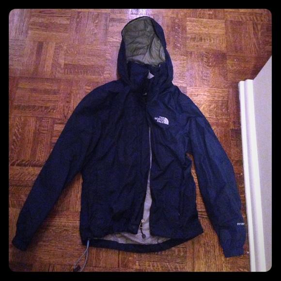 Navy blue north face rain jacket - XS. M 559f1381f9591e6201001082 760403a22