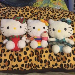 Other - 3 original Hello Kitty Beanie
