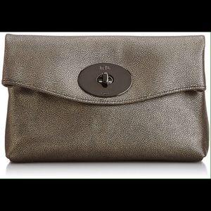 Coach bag. Metallic leather turnlock