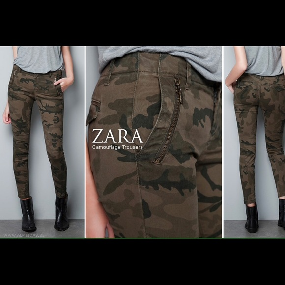 Awesome Zara Women S Join Life Camouflage Cargo Trousers 70 From Zara Buy Now