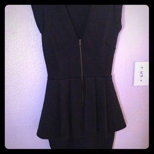 Short sexy black dress