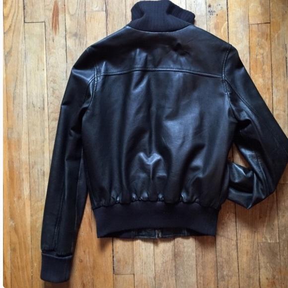 Gap leather bomber jacket