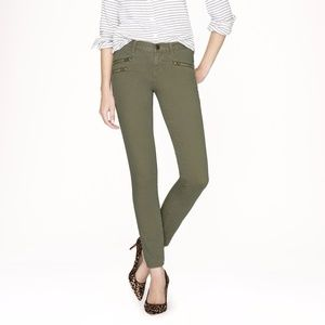 J. Crew TOOTHPICK JEAN WITH ZIPPERS - 26 - NWT