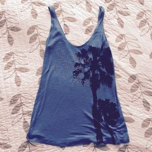 United Colors Of Benetton Tops - Blue summer tank top