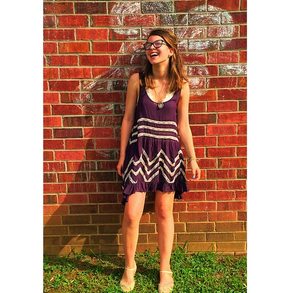 a3eba7cf5ff1 Free People Dresses   Skirts - FP Voile and Lace Trapeze Slip in Eggplant