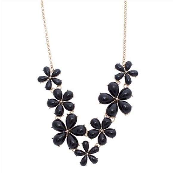 Tanya Kara Jewelry - Black Flower Necklace
