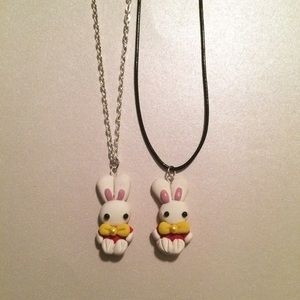 Jewelry - White Rabbit Alice in Wonderland Necklace Kawaii