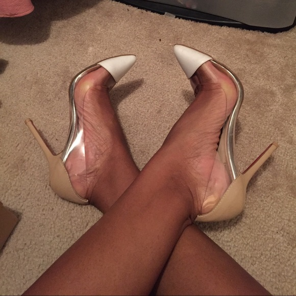 55% off Shoes - PVC pumps white/nude/clear SAME DAY SHIPPING from ...