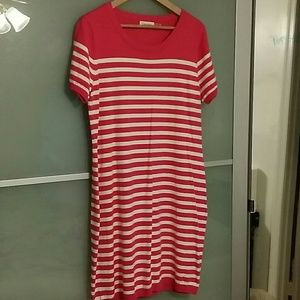 Calvin Klein Dresses & Skirts - Calvin Klein pink and white striped dress